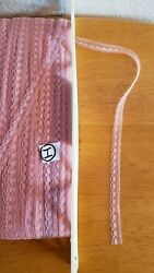 Vintage tiny lace for baby doll clothes 3 8quot; Pink 10 yards crafts trims Lot I $5.00