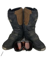 Fox Motocross Tracker Jr Boots K5 W Goggles $45.95
