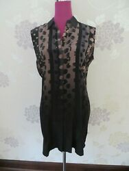 Stunning All Saints Hartley Polka Dress Black Size 12 (14) Excellent Condition $56.28