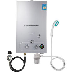 12L Hot Water Heater Upgrade Type Propane Gas LPG Instant Boiler Stainless Steel $115.78