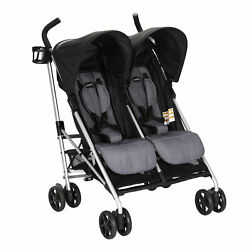 Evenflo Minno Double Seat Compact Fold Twin Baby Travel Stroller Open Box $91.99