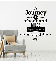 Vinyl Wall Decal Journey Travel Motivational Phrase Words Home Stickers g2829 $20.99