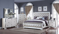 Cosmos Furniture Gloria Queen Bedroom Contemporary Set for a total of 6 pieces $2649.00