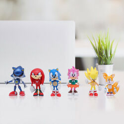 6PCS Sonic The Hedgehog Action Figure Toy Set Collection Kids Toy USA SELLER $15.69