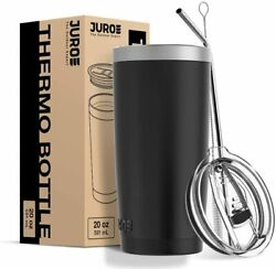 Juro Outdoor Tumbler 20 oz Stainless Steel Vacuum Insulated with Lids and Straw $11.28
