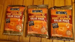 24 Hothands Adhesive Body Warmers - Up to 12 Hours of Heat - 3 x 8pk $24.38