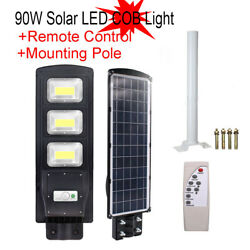 Outdoor Commercial LED Solar Street Light Dusk to Dawn Sensor Lamp 90W NEW