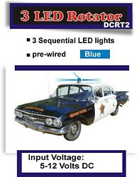 Blue LED Rotating Circuit for Old Police Cars Sci Fi Models Drones and More $15.99