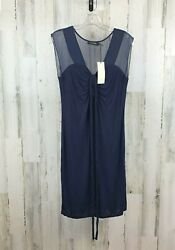 MM Couture Women's Dress Blue Cocktail Size L NWT $23.95