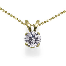 $19800 2.00 Diamond Stud Solitaire Pendant Necklace Yellow Gold D SI1 50878272