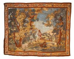 Vintage French Wall Hanging Antique Tapestry Home decor Large Size 80X60 inches $980.24