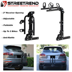 Hitch Mount Bike Rack 2-Bicycle Style Adjustable Foldable Trailer Carrier 2