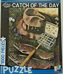 Saturday Evening Post Catch of the Day 1000 Piece Jigsaw Puzzle by Go!  NEW  $19.99