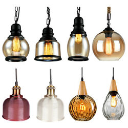 Modern Vintage Industrial Pendant Glass Light Lamp Shade Ceiling Hanging Lamp $28.99