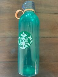Starbucks reusable water bottle summer 2020 HTF Green color $13.95