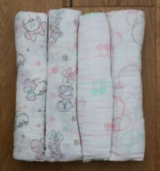 Aden Anais Baby Girl Disney Swaddle Blanket Minnie Bubble Minney Mouse Pick 1 $11.97