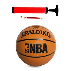 NBA Spalding Basketball Regulation Size 29.5 in. Rubber With Pump Included NEW $17.95