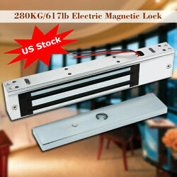 Door Electric Magnetic Lock 280KG 600LB Holding Force For Access Control System $24.98