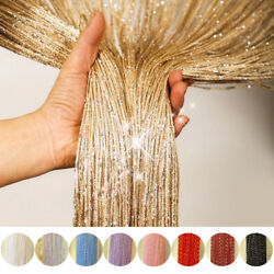 ANMINY Glitter String Door Curtain Bead Room Dividers Beaded Fringe Window Panel $8.99