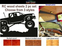 RC Wood Planks 2pc vinyl decal set choose from 3 styles trim to fit $14.95