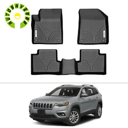 All Weather Floor Mats Liners for 2015-2020 Jeep Cherokee 3pcs Black Full Set $85.99