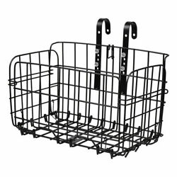 Folding Metal Wire Basket Bicycle Bike Storage Carrier Holder Hanging Front Rear $16.92