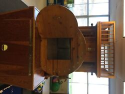 Children's wooden train play ground for home school museum or playground.  $2,500.00