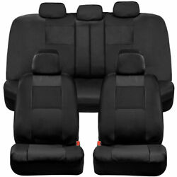 BDK Faux Leather Full Set Car Seat Covers Front amp; Rear Two Tone in Black $29.99
