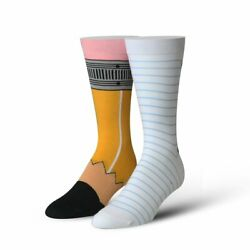 Cool Socks Unisex Graphic Pencil amp; Paper Crew Novelty Funny Silly Crazy $10.99