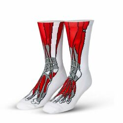 Odd Sox Unisex Graphic Muscle Feet Crew Socks Novelty Funny Crazy Cool $9.99