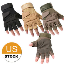 Airsoft Gloves Men Fingerless Tactical Gloves for Outdoor Sports US FAST $10.99