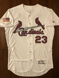 2016 St. Louis Cardinals Game Used Bill Mueller Independence Day Jersey $174.99
