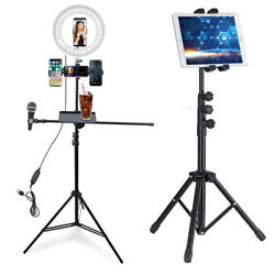 Adjustable Floor Selfie Ring Light Stand 4 Phone Holder Tablet Tripod Stand USA $44.92