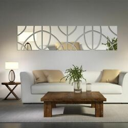 Mirror Surface Acrylic Wall Stickers Large Modern Adhesive 3D DIY Home Decors $20.67