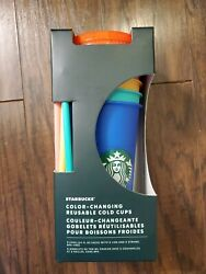 Brand New Starbucks Color Changing Cups 5 Pack Reusable sold out everywhere  $44.99