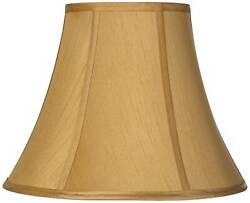 Coppery Gold Bell Lamp Shade Traditional Fabric Harp Included 7x14x10.5 Spider $39.99
