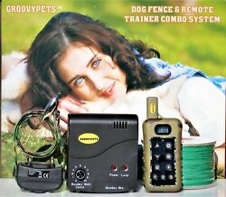 Underground Dog Containment Fence Remote Shock Collar No Bark Hunting Trainer $169.95
