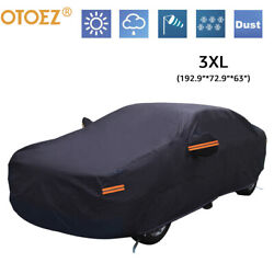Heavy Duty Waterproof Full Car Cover All Weather Protection Outdoor Dustproof $24.99