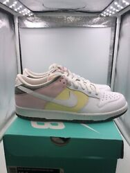 Nike Dunk Easter Women's Size 11.5 = Men's size 10 White Olive Green Pink Yellow $550.00
