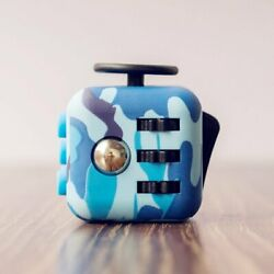 Camouflage Fidget Cube Toy Anxiety Stress Relief Focus Attention Work Puzzle New $5.99