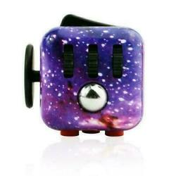 Sky Galaxy Fidget Cube Toy Anxiety Stress Relief Focus Attention Work Puzzle $6.99