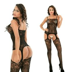 Sexy Lingerie Black Lace Body Stocking with G string quot;One Size Fits Mostquot;