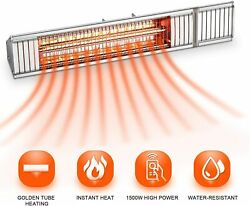 Patio Heater Electric Garage Heater Space Heater Wall Infrared Heater 1500W $89.00