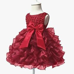 Party formal dress princess kid tutu bridesmaid girl dresses flower baby wedding $21.71