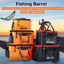 EVA Foldable Waterproof Carp Fishing Bucket Live Fish Container Camping Surp Z $16.78