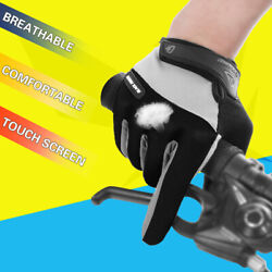Cycling Gloves Motorcycle Mountain Bike Gloves Full Finger Biking Gloves for Men $10.99