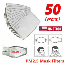 50PCS PM2.5 Activated Carbon Filter Pads Paper for Mouth Replace Breath Insert $16.79