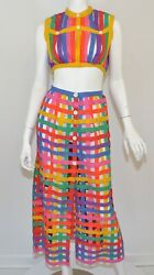 Bill Atkinson Vintage 1960#x27;s Caged Skirt And Crop Top Set $635.00