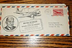 #J4Milton Reynolds Carried on Record Flight 1947 #10 Commercial Cover
