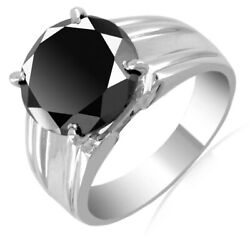 4 Ct Certified Black Diamond Solitaire Unisex Ring Excellent Cut amp; Luster $85.00